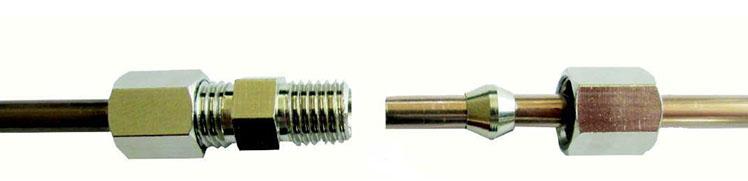 10X Bremsleitungsverbinder für Bremsleitung Ø 4,75 ohne bördeln Verbinder Jeep